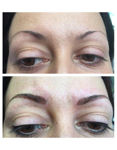 Make-up-Augenbrauen-in-der-PERMANENT-Line-Härchentechnik