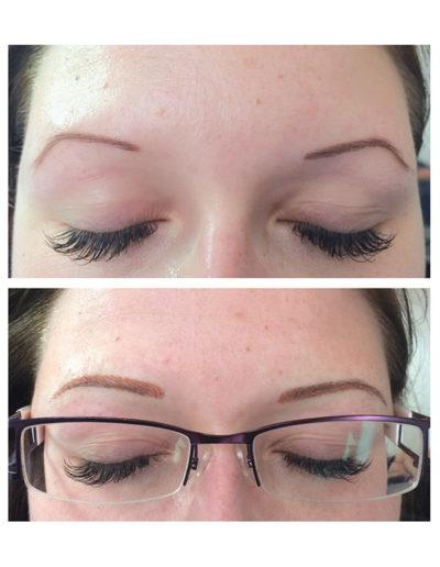 dauerhafte-Permanent-Make-up-Härchenzeichnung
