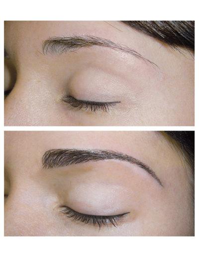 natürlich-wirkende--Augenbrauen-ergänzung-in-dunkelbraun-und-in-Härchentechnik