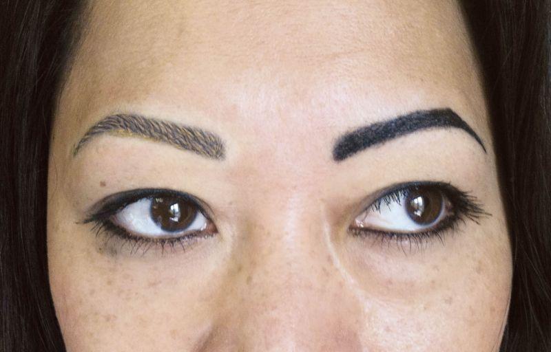 Aufhellung Von Balkenaugenbrauen Permanent Line Make Up